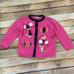 Hartstrings Cheerleader Cardigan Sweater